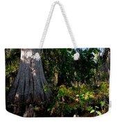 Gray Cypress Weekender Tote Bag