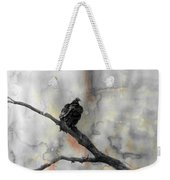 Gray Day Vulture Weekender Tote Bag