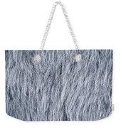 Gray Fake Fur Horizontal Weekender Tote Bag