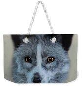 Gray Fox Head Study Weekender Tote Bag