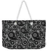 Gray Paisley Design Weekender Tote Bag