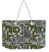Gray Pattern,abstraction Weekender Tote Bag