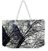 Gray Repetitions Weekender Tote Bag