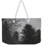 Gray Skies Over The Pines Weekender Tote Bag
