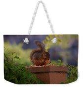 Munching Squirrel Weekender Tote Bag