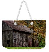 Gray Weathered Barns Number Three Weekender Tote Bag