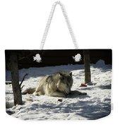 Gray Wolf 2 Weekender Tote Bag