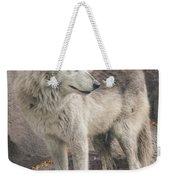 Gray Wolf Profile Weekender Tote Bag
