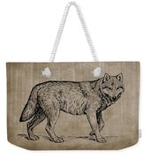 Gray Wolf Timber Wolf Western Wolf Woods Texture Weekender Tote Bag