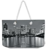 Grayscale By The River 2017 Weekender Tote Bag
