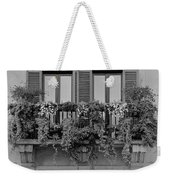 Grayscale Foliage Weekender Tote Bag