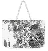 Grayscale Palm Trees Pen And Ink Weekender Tote Bag