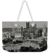 Grayscale Pittsburgh Weekender Tote Bag