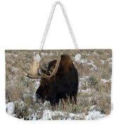 Grazing Bull Moose Weekender Tote Bag