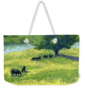 Grazing By The Bear River Weekender Tote Bag by David King