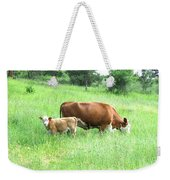 Grazing Cow And Calf Weekender Tote Bag
