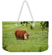 Grazing Cow Weekender Tote Bag