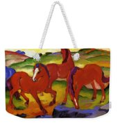 Grazing Horses Iv The Red Horses 1911 Weekender Tote Bag