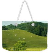 Grazing On The Mountain Side Weekender Tote Bag