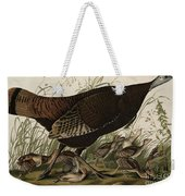 Great American Hen And Young Weekender Tote Bag by John James Audubon