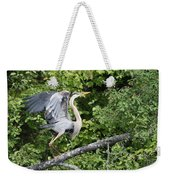 Great Blue Ballet Weekender Tote Bag