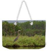 Great Blue Heron Along Cedar Creek Weekender Tote Bag