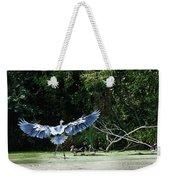 Great Blue Heron And Wood Ducks Weekender Tote Bag