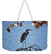 Great Blue Heron At Shores Of King's Mountain Point Weekender Tote Bag