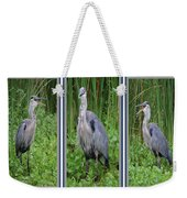 Great Blue Heron Collage Weekender Tote Bag