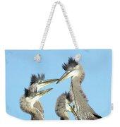 Great Blue Heron Discussion Weekender Tote Bag