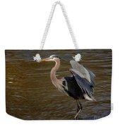 Great Blue Heron - Flooded Creek Weekender Tote Bag