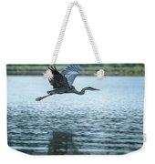 Great Blue Heron Flying Weekender Tote Bag