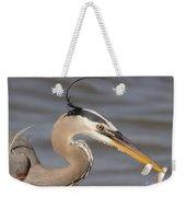 Great Blue Heron Gets Twofer Weekender Tote Bag