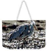 Great Blue Heron In Galapagos Weekender Tote Bag
