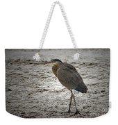 Great Blue Heron In The Snow Weekender Tote Bag