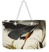 Great Blue Heron Weekender Tote Bag by John James Audubon