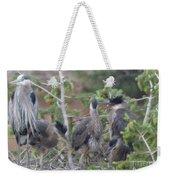 Great Blue Heron Nest Weekender Tote Bag