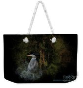 Great Blue Heron On The River Weekender Tote Bag