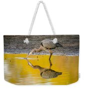 Great Blue Heron On Yellow Weekender Tote Bag
