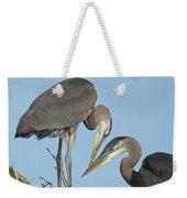 Great Blue Heron Pair Weekender Tote Bag