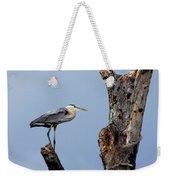 Great Blue Heron Perched Weekender Tote Bag