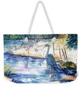 Great Blue Heron Square Cropped  Weekender Tote Bag