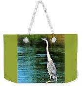 Great Blue Heron Standing Tall Weekender Tote Bag
