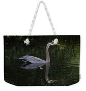 Great Blue Heron Swimming Weekender Tote Bag