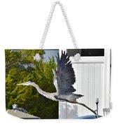 Great Blue Heron Taking Flight Weekender Tote Bag