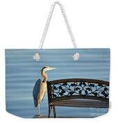 Great Blue Heron....resting My Leg Weekender Tote Bag