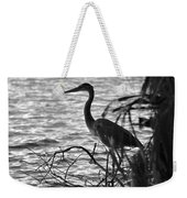 Great Blue In Black And White Weekender Tote Bag