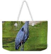 Great Blue Wading The Tuck Weekender Tote Bag