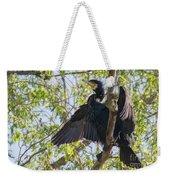 Great Cormorant - High In The Tree Weekender Tote Bag