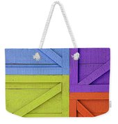 Great Crates - Multicolored Packing Boxes Stacked Weekender Tote Bag